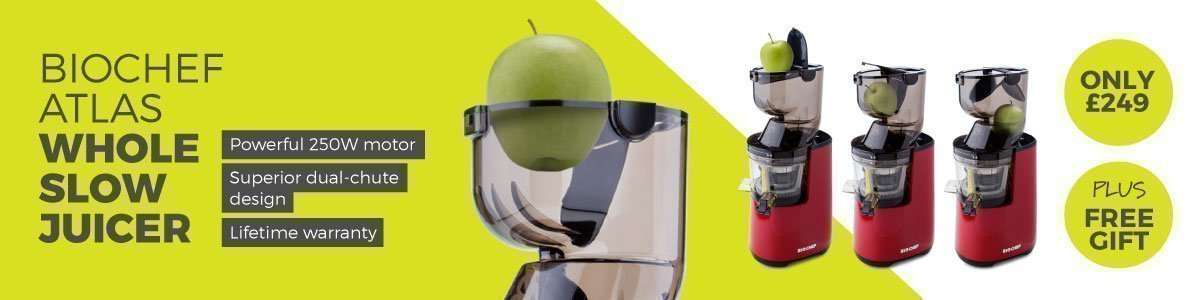BioChef Atlas Whole Slow Juicer Banner