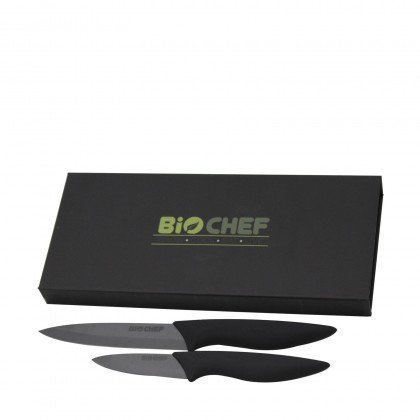 BioChef Ceramic Knife Twin Gift Set - Black