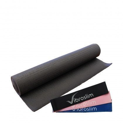 VibroSlim Exercise Mat & Resistance Band Set