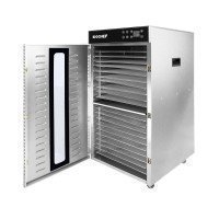 BioChef Commercial 20 Tray Vertical Food Dehydrator Angle Open