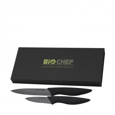 BioChef Ceramic Knife Twin Gift Set - Black