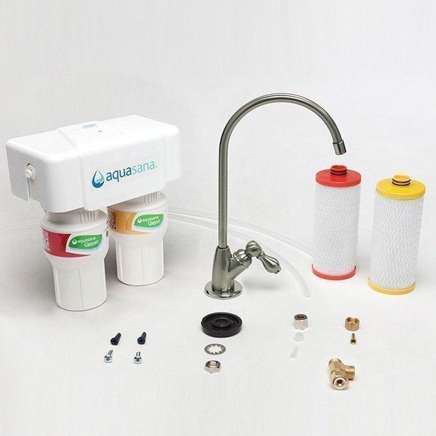 Aquasana-2-stage-undercounter-claryum-brushed-kit