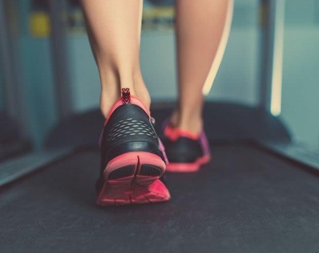 Walking on Treadmill WalkSlim